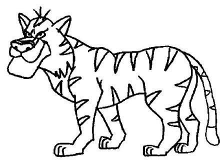 Cómo dibujar un lindo tigre animado » TIGREPEDIA