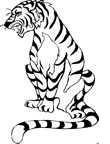 dibujos de tigres 5